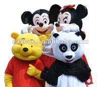 plush mascot costume polyfoam head