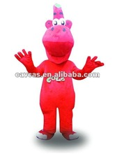 fur big nose red dragon mascot costume