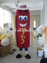2012 best quality hot dog mascot costume