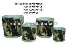 Ceramic flower pot painting designs