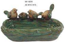 Garden ceramic bird feeder craft