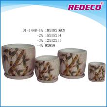Decorative indoor ceramic pot