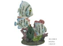 Tropical polyresin fish aquarium ornament