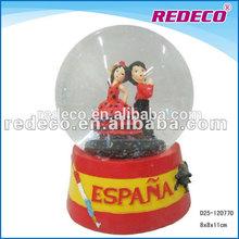 Resin wedding favors snow globe