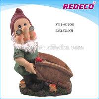Resin funny garden gnome