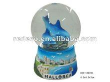 Polyresin decorative dolphin snow globe