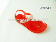 hot saling flat jelly buckel sandals
