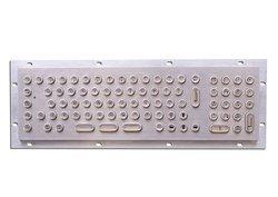 industrial / kiosk stainless steel metal keyboard