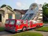 Commercial Fire truck inflatable slide for sale