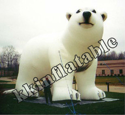 white giant inflatable bear/advertising inflatable cartoon bear