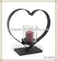 coração de ferro black candelabro de casamento