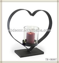 Iron heart black wedding candelabra