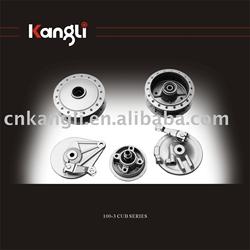 Motorcycle wheel hub for 100-3 CUB