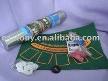 2 in 1 Casino Poker Game Set of Black Jack and Texas Hold'em for Children Games for ET-230015B
