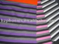 cotton knitting stripe fabric