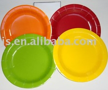 One Color Paper Plate