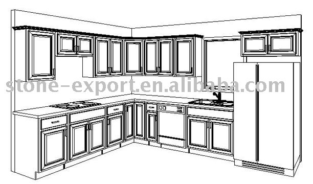 Kitchen Cabinets With Standard Size (cad Drawing Cabinet) Photo