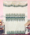 Polyester Sheer Embroidered Curtain with Lining