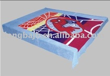 Panel-Printed Coral Fleece Blanket