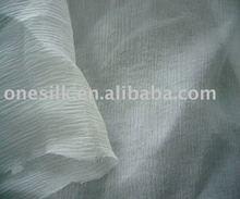 Crushed/pleated silk georgette/yoryu fabric