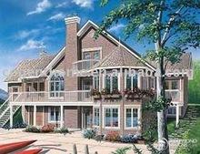 luxury modern prefabricated wooden houses W3917
