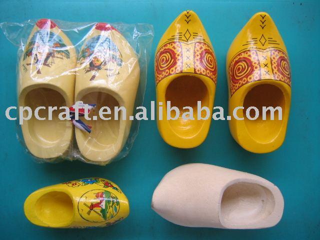 la pintura de artesanías de madera holanda zapatos