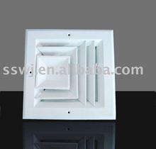 Three way aluminium air diffuser(air conditioning diffuser,square diffuser)