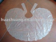 disposable plastic PE apron used in hari sallon