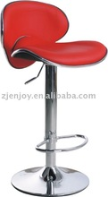 Pu leather seat low back red bar stool swivel bar chair