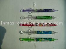Promotional syringe shaped pen