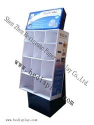 display cabinet / cardboard display / corrugated display / display stand/ calendar post card display shelf / floor display