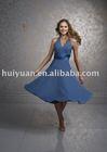 short blue halter apparel party