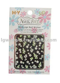 Flower 3D nail sticker