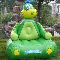 single green PVC sofa inflatable