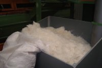 natural raw material produced from feathers of Polish geese