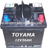 dry charge car battery-12V36Ah 53628