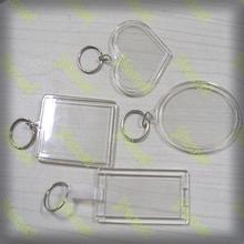Customized clear blank acrylic keyrings