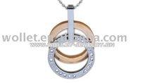 Titanium Pendant stainless steel pendant gemstone pendant