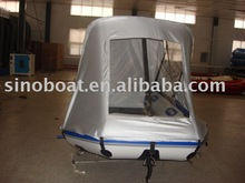 inflatable sports boat with tent