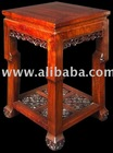 19th Century Chinese Carved Red Wood Tea Table