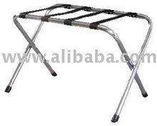 Metallic luggage rack