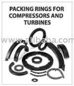 Graphite piston rod packing rings