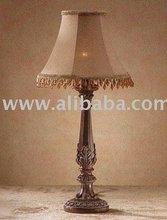 ALAB MAHOGANY LAMP/BEAD SHADE[32276] Item #: 696