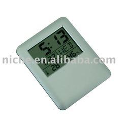Slim Travel Calendar Alarm LCD clock Portable weather station