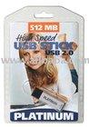 512 MB PLATINUM High Speed USB STICK[Artikelnummer:100155]
