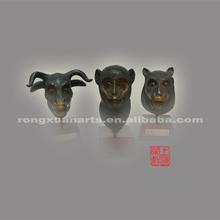 The imitation of The Summer Palace's twelve animal head sculpture(monkey,dog,cattle)------bronze sculpture