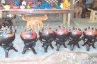 Clay sculptures, Pots, Pans, Jugs, Lamp Holders