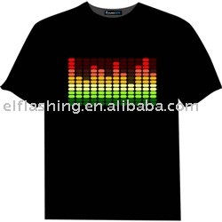 newest led t-shirt, led sound activated shirt