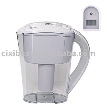 Filtered water glass pitcher fridge water filter - Glass filtered water pitcher ...