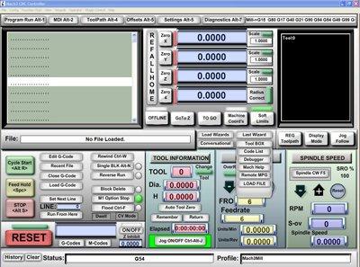 Mach3 CNC SOFTWARE controlador